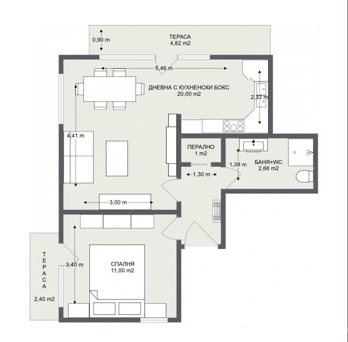Етаж 1, Апартамент 3