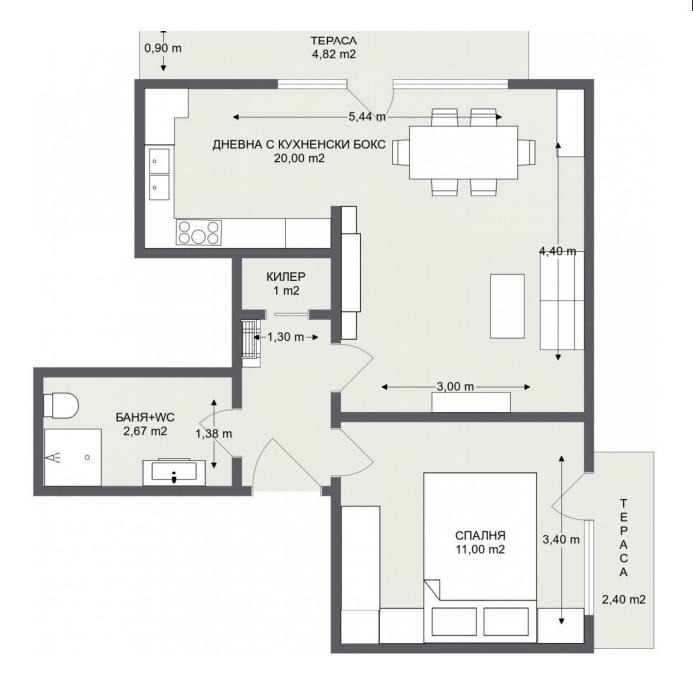 Етаж 1, Апартамент 4