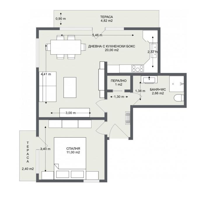 Етаж 2, Апартамент 5