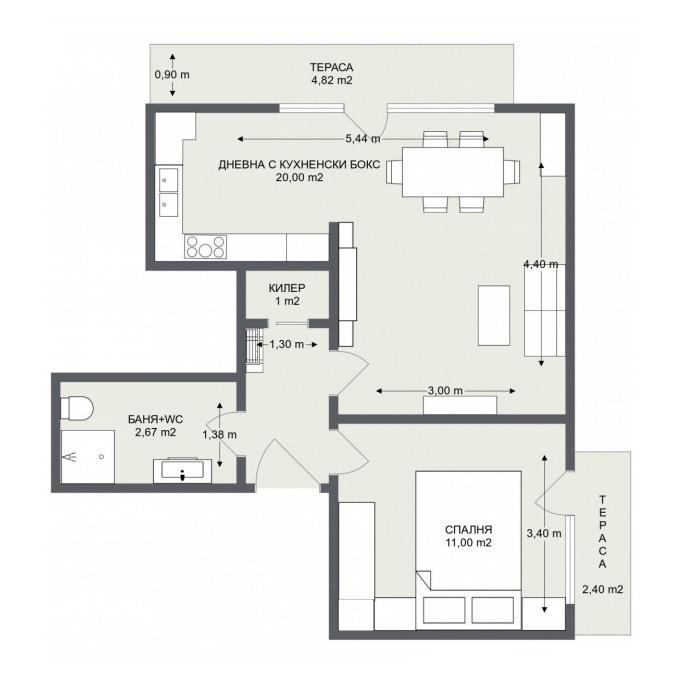 Етаж 3, Апартамент 8